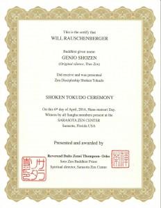 Tokudo-certificate